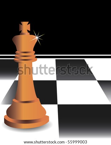 The chess king against a chessboard