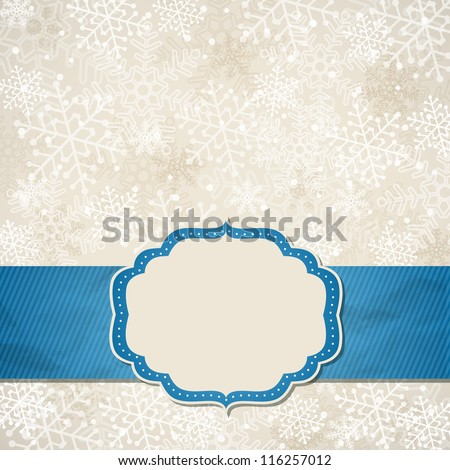 The Christmas frame. Vector illustration. - stock vector