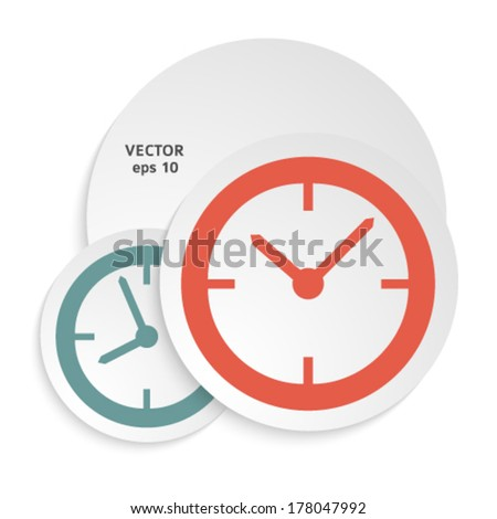 The clock concept poster or cover book. Elegant round clock face (dial). Icons Set -  - Isolated on white background. Vector Illustration EPS 10, Graphic Design Editable For Your Design. Clock Logo - stock vector