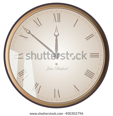 The clock face. Vector illustration. - stock vector