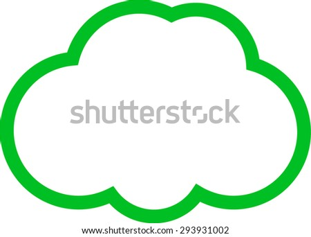 the cloud  - stock vector