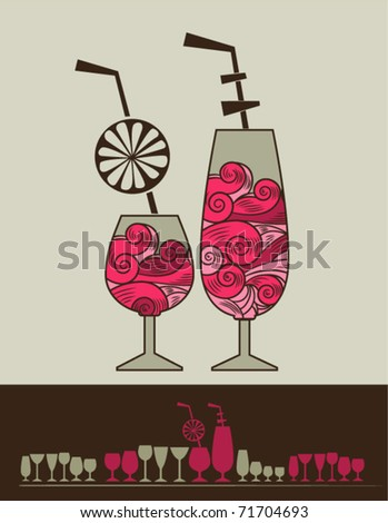 The cocktail - stock vector