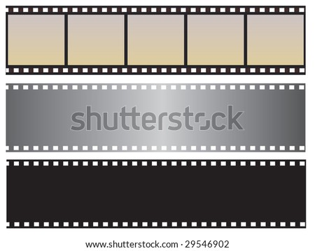 The collection of photographic film. Vector illustration