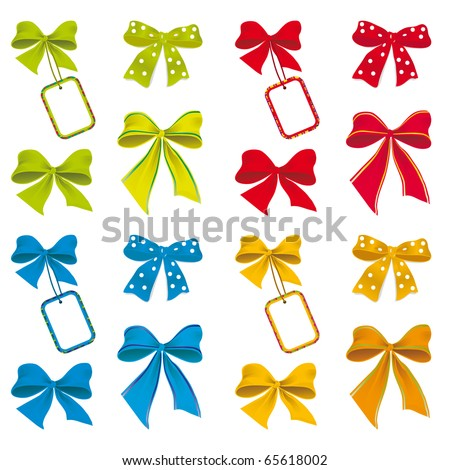The collection of ribbons for design. Vector illustration - stock vector