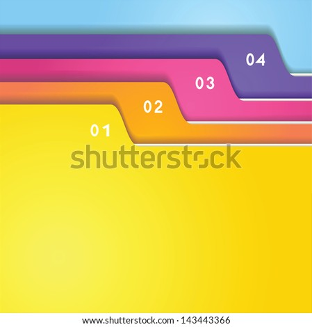 The color folder tabs collection - stock vector