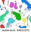 The color splash paint seamless - stock vector
