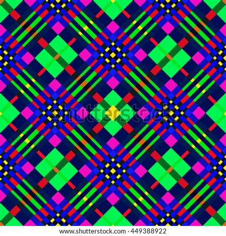 The colorful seamless geometric pattern.Intersecting diagonal stripes.Vector illustration.Can be used for textile,fabric,wrapping paper. - stock vector