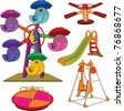 The complete set a children's swing. Cartoon - stock