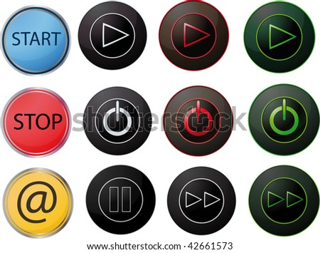 The complete set of switches - stock vector