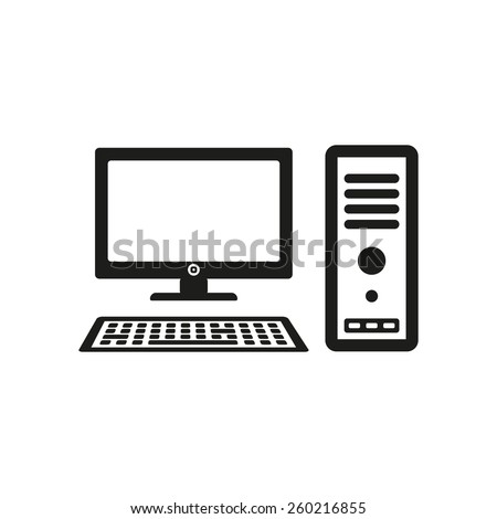 Computer Icon Pc Symbol Flat Vector Stock Vector Hd Royalty Free