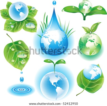 The concept of ecology symbols - stock vector