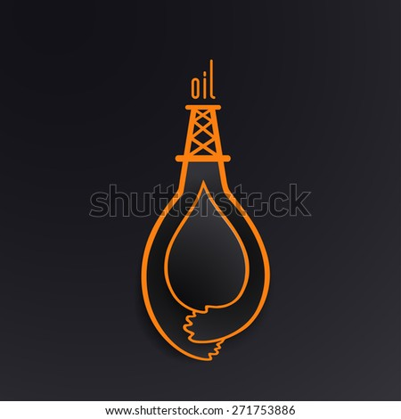 The concept of extraction of oil, vector illustration. Cartoon style. - stock vector