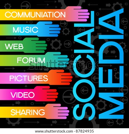 the concept of human communication in the social hall - stock vector