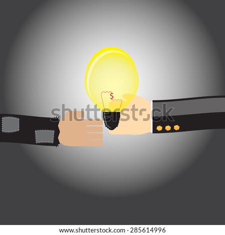 The concept of introducing business ideas.business concept - stock vector