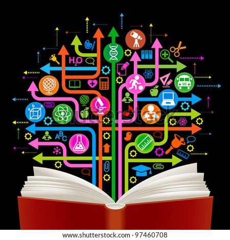 the concept of learning and education - stock vector