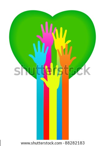the concept of love between people .the concept of communication between people - stock vector