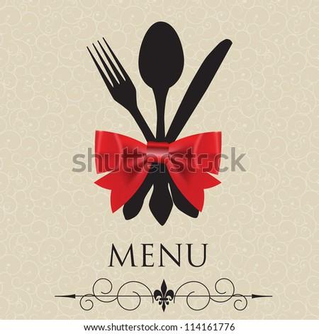 The concept of Restaurant menu. vector illustration - stock vector