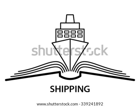 The concept of the book  and  shipping. - stock vector