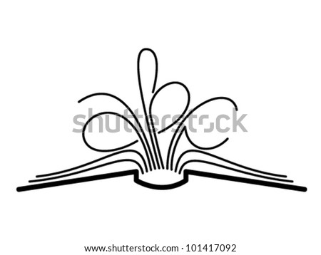 The concept of the book pages and letters - stock vector