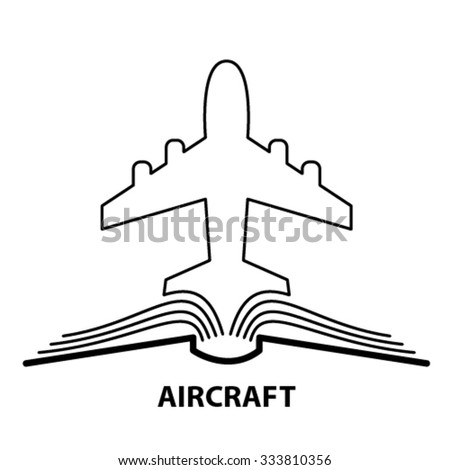 The concept of the book pages and the plane. - stock vector