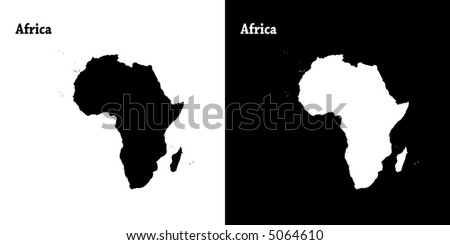 The continent of Africa - stock vector