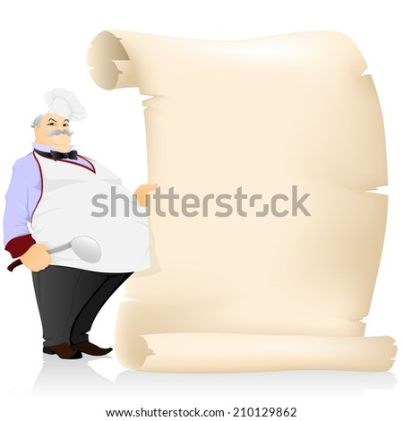 The cook with parchment - stock vector