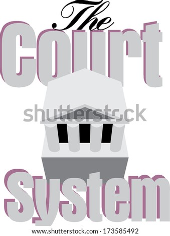 The Court System Vector - stock vector