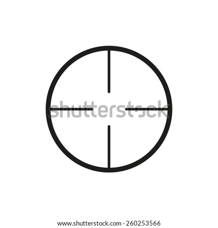 The crosshair icon. Search symbol. Flat Vector illustration - stock vector