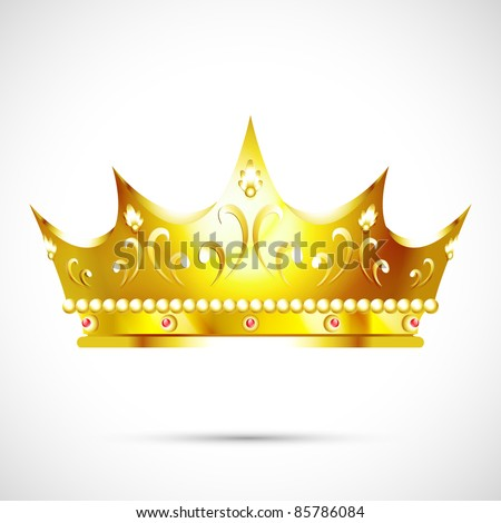 the crown - stock vector