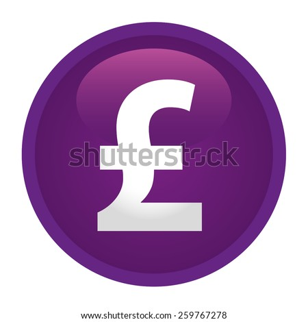Currency Sign Pound Sterlin Symbol Badge Stock Vector 259767278