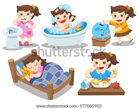 Bedtime Routine Stock Images Royalty Free Images