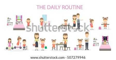 an essay on daily routine of a girl