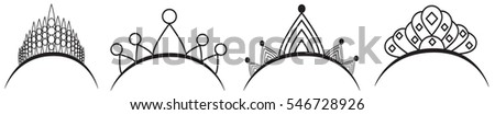 the decoration of the diadem, vector
