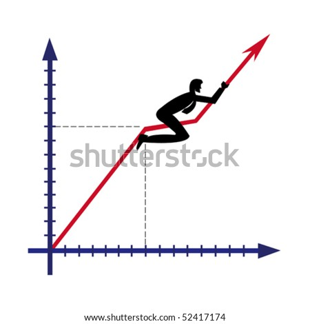 The diagramme of growth - stock vector