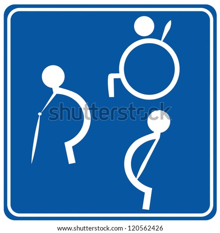 The disabled toilet or Restroom signs. Toilet Restroom Signs Stock Vector 121098583   Shutterstock