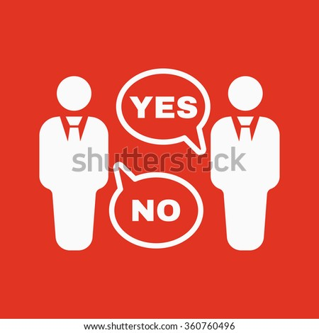 The dispute icon. Dialog and  negotiation, discussion symbol. Flat Vector illustration - stock vector