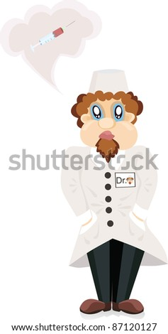 The doctor about a syringe - stock vector