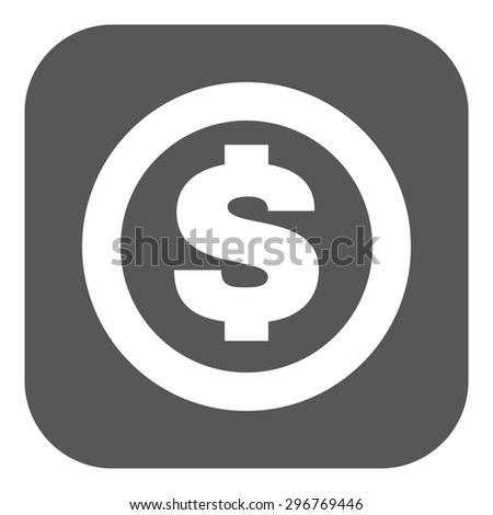 The dollar icon. Cash and money, wealth, payment symbol. Flat Vector illustration. Button - stock vector