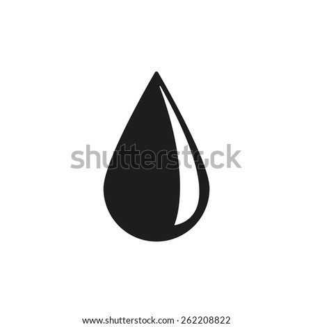 Drop Icon Water Oil Symbol Flat Stock Vector Royalty Free