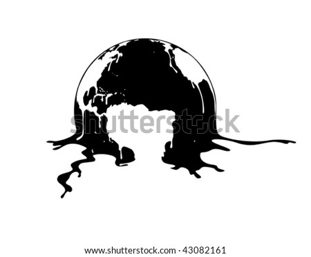 The earth is melting, Illustration - stock vector