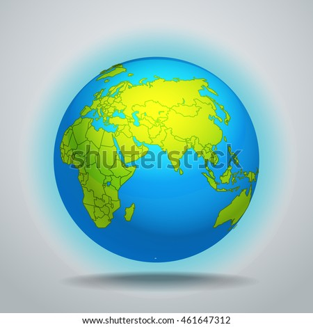The Earth vector template
