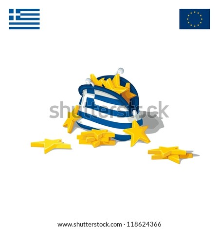 The economic crisis in Greece - stock vector