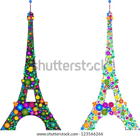 The Eiffel Tower in the colors
