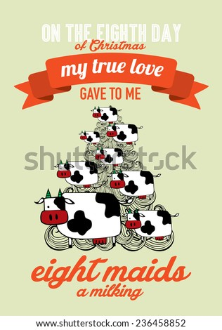Eighth Day Of Twelve Days Of Christmas Stock Images, Royalty-Free ...