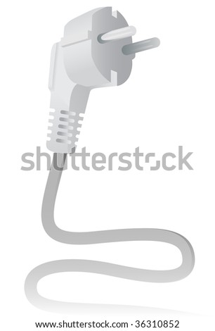 The Electric plug. A vector. Without mesh. - stock vector
