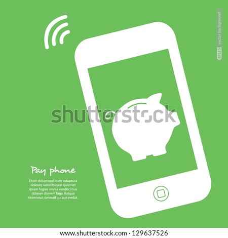 The electronic wallet, payment. Vector. - stock vector