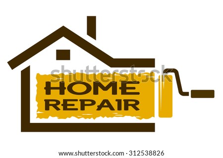 The emblem of Home Repair services. - stock vector