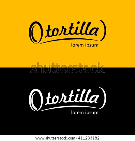 The emblem of the Mexican fast food. It can be used as logo. - stock vector