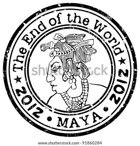 The End of the World theme stamp - stock vector