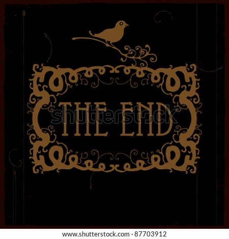 the end of this movie - stock vector